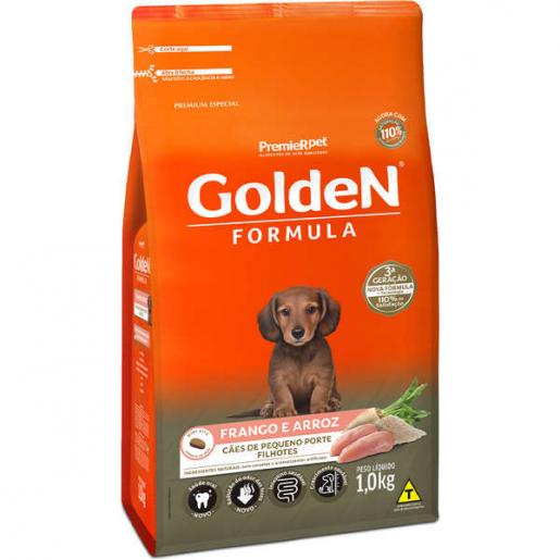 Ração Golden Fórmula Cachorros Filhotes Frango e Arroz Mini Bits 1kg