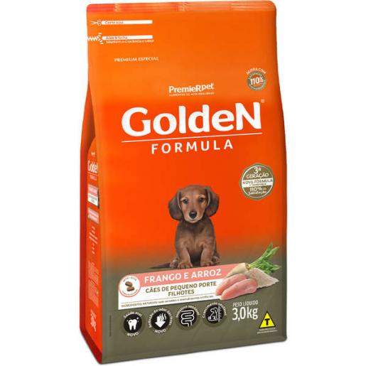 Ração Golden Fórmula Cachorros Filhotes Frango e Arroz Mini Bits 3kg