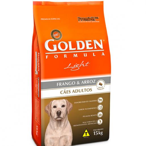 Ração Golden Fórmula Cães Adulto Light Frango e Arroz 15kg