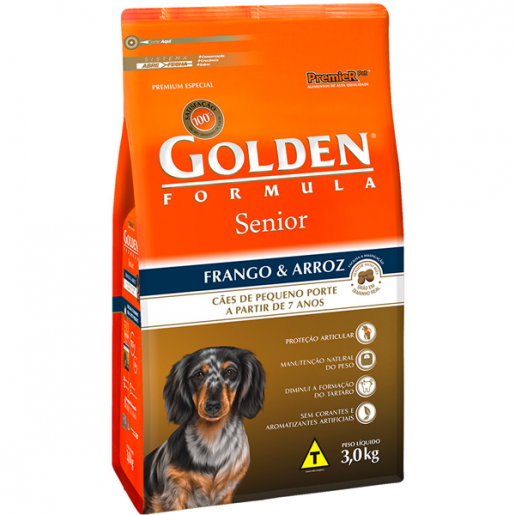 Ração Golden Fórmula Senior Mini Bits 3kg