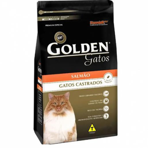 Ração Golden Gatos Adultos Castrados Salmão 10,1kg
