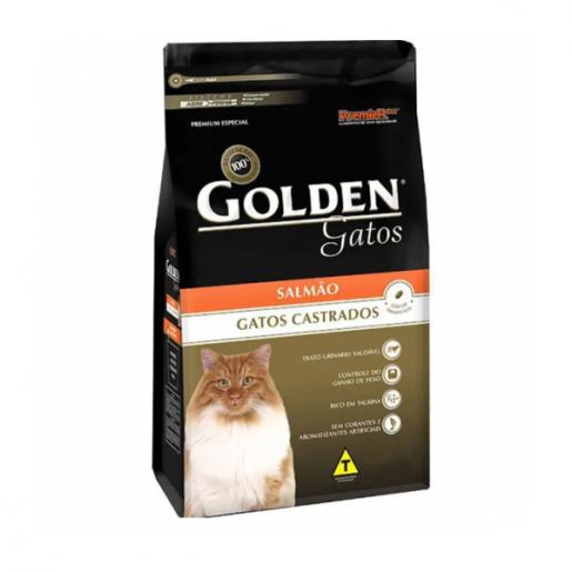 Ração Golden Gatos Adultos Castrados Salmão 1kg