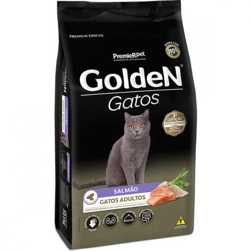 Ração Golden Gatos Adultos Salmão 3kg