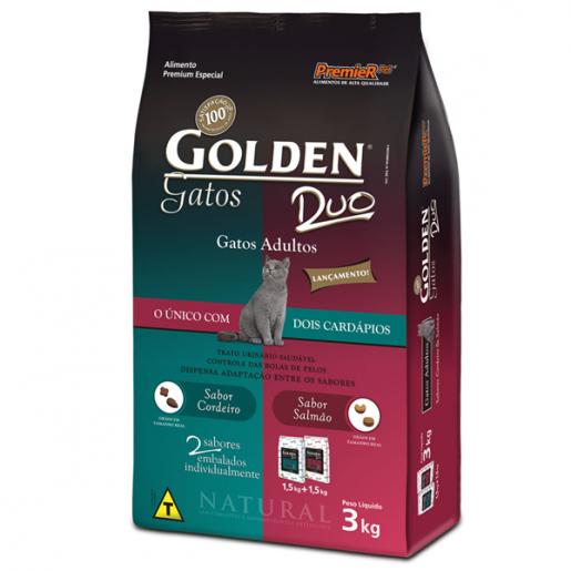 Ração Golden Gatos Duo Cordeiro e Salmão 3kg