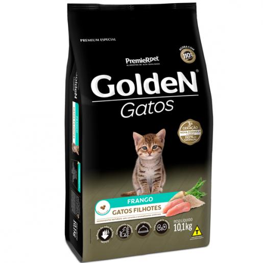 Ração Golden Gatos Filhotes Frango 10,1kg