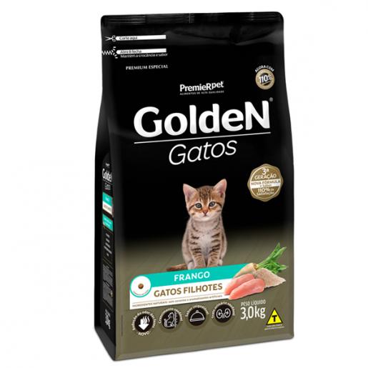 Ração Golden Gatos Filhotes Frango 3kg