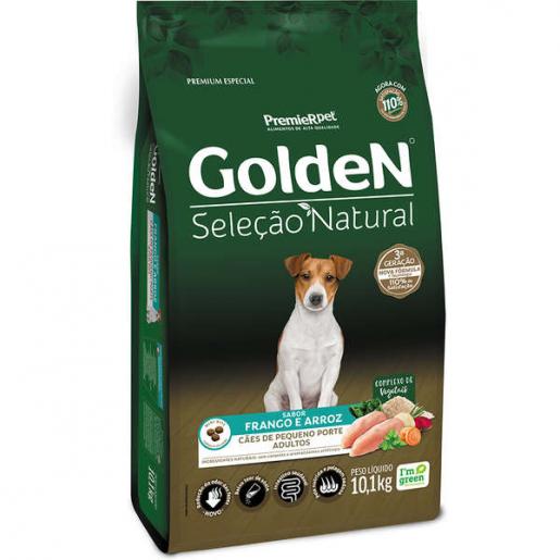 Ração Golden Seleção Natural Cachorros Adultos Frango e Arroz Mini Bits 10,1kg