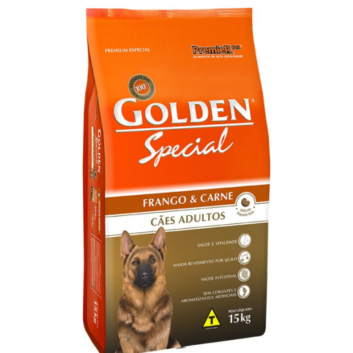 Ração Golden Special Adulto Carne e Frango - 15kg
