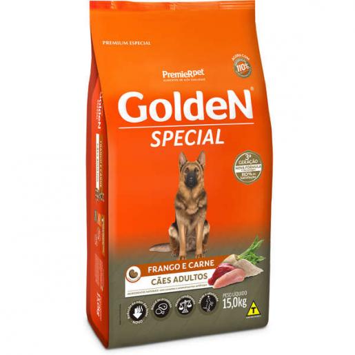 Ração Golden Special Cachorros Adultos Carne e Frango 15kg