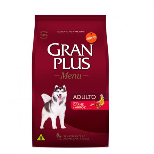 Ração Gran Plus Menu Carne e Arroz Cachorros Adultos 15kg