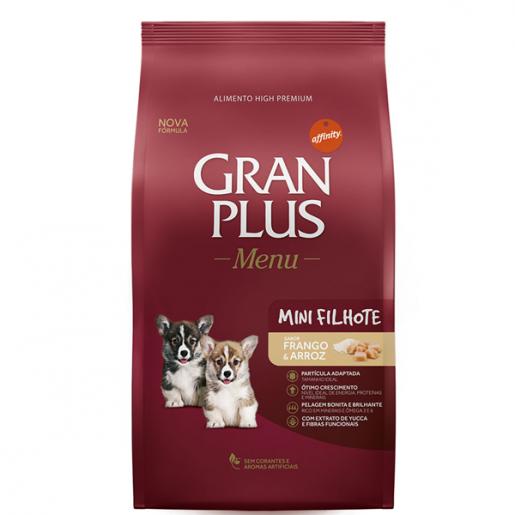 Ração Gran Plus Menu Carne e Arroz Cachorros Filhotes Mini 3kg