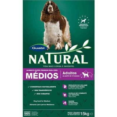 Ração Guabi Natural Cães Adultos Raças Médias 15kg
