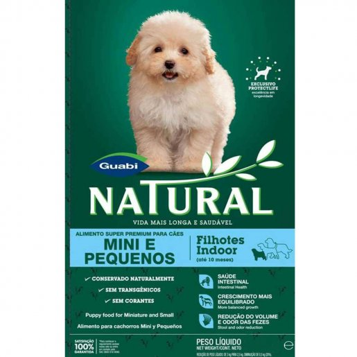 Ração Guabi Natural Filhotes Raças Mini e Pequenas Indoor 2,5kg