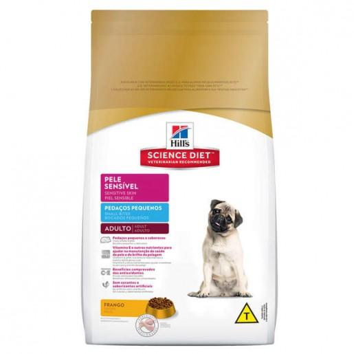 Ração Hills Science Diet Cães Adultos Pele Sensível Pedaços Pequenos 2,5kg