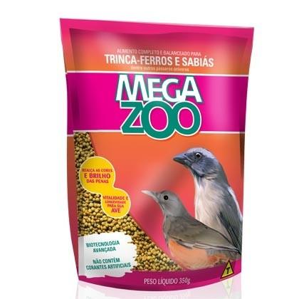 Ração MegaZoo Trinca-Ferros e Sabiás 350g