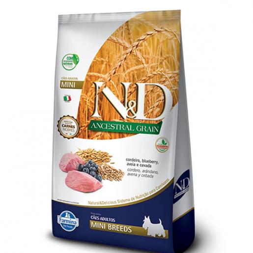 Ração ND Ancestral Grain Cordeiro Cachorros Adultos Raças Pequenas e Mini 2,5kg