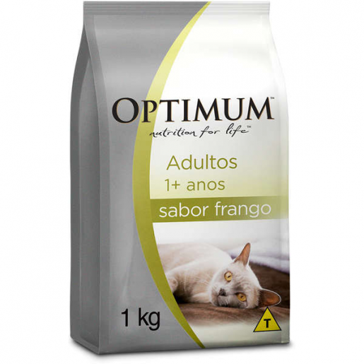Ração Optimum Gatos Adultos Frango 1kg