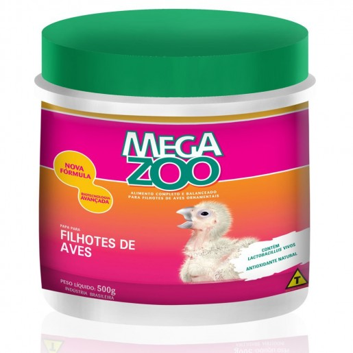 Ração Papa Para Filhotes de Aves Megazoo 500g