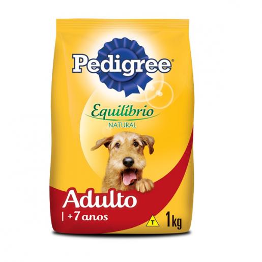 Ração Pedigree Adulto Equilíbrio Natural +7 Anos 1kg