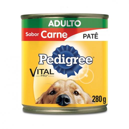 Ração Pedigree Carne Adulto Lata 280g