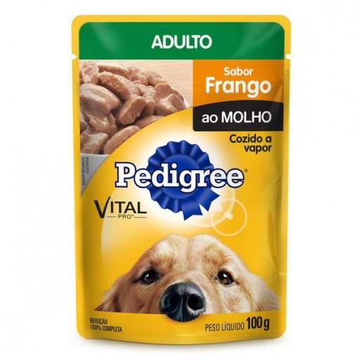 Ração Pedigree Frango ao Molho Adulto Sachê 100g