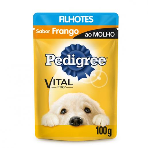 Ração Pedigree Frango ao Molho Filhotes Sachê 100g