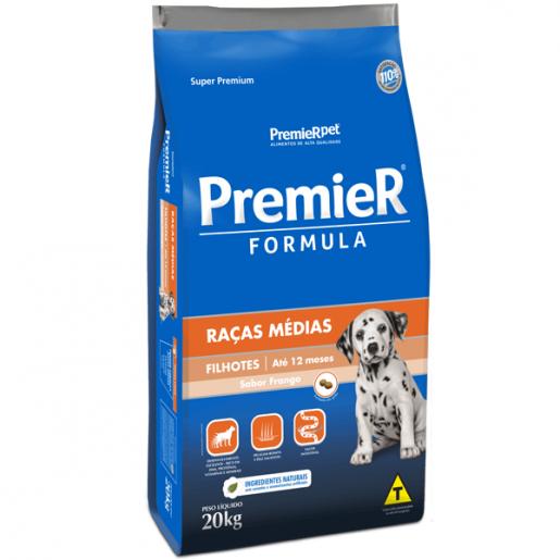 Ração Premier Fórmula Cachorros Filhotes Raças Médias 20kg
