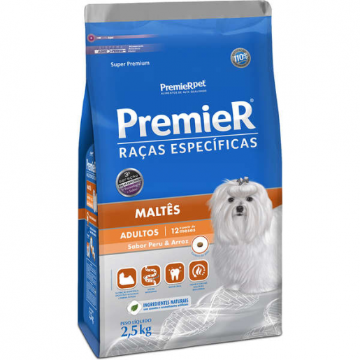 Ração Premier Raças Específicas Maltês Adulto 2,5kg