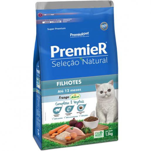 Ração Premier Seleção Natural Gatos Filhotes Frango 1,5kg