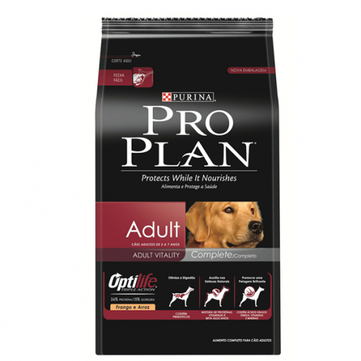 Ração Pro Plan Adult Optilife Complete 3kg
