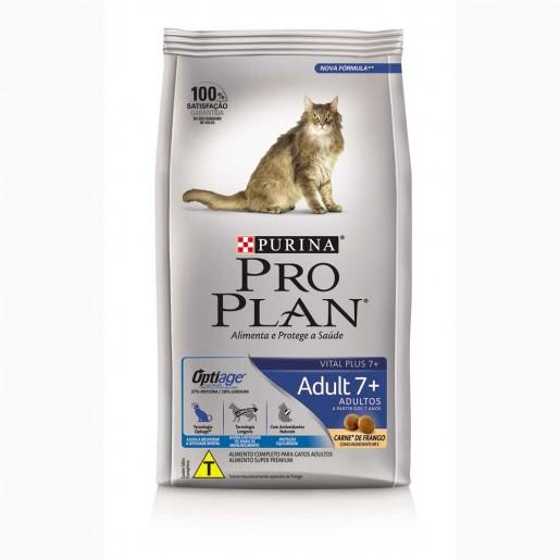 Ração Pro Plan 7+ Gatos Senior Frango e Arroz 7,5kg