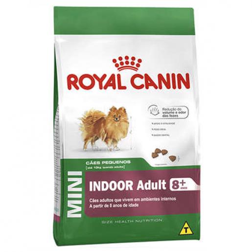 Ração Royal Canin Cães Mini Indoor Adult 8+ 2,5kg