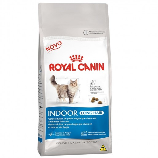 Ração Royal Canin Indoor Long Hair Gatos 1,5kg