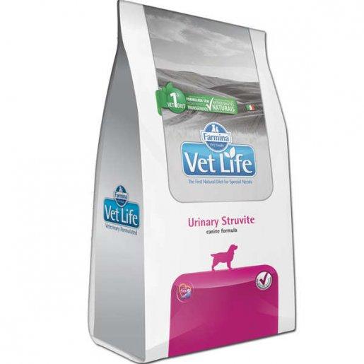 Ração Vet Life Urinary Struvite Cães Adultos com Distúrbios Urinários 2kg