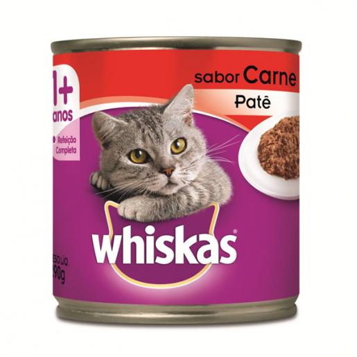 Ração Whiskas Lata Carne em Patê 290g