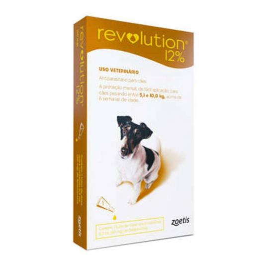 Revolution 12% Cães de 5 a 10kg - 1 Ampola