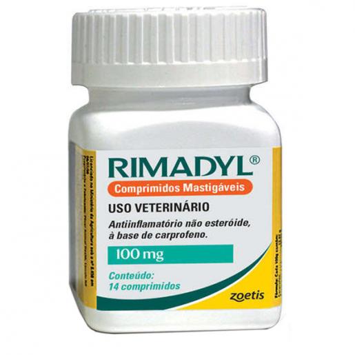 Rimadyl 100mg Frasco com 14 Comprimidos