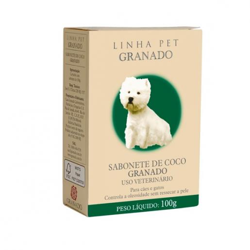 Sabonete Veterinário Granado Coco Cães e Gatos 100g