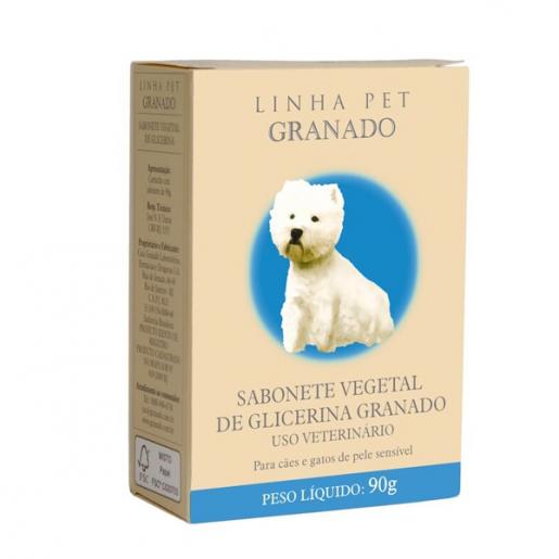 Sabonete Veterinário Granado Glicerina Cães e Gatos 90g