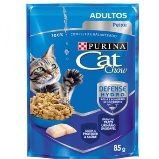 Alimento Úmido Sachê Purina Cat Chow Adultos Peixe ao Molho 85g