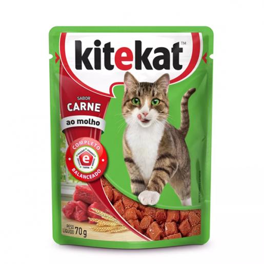 Sachê Kitekat Gatos Adultos Carne 70g
