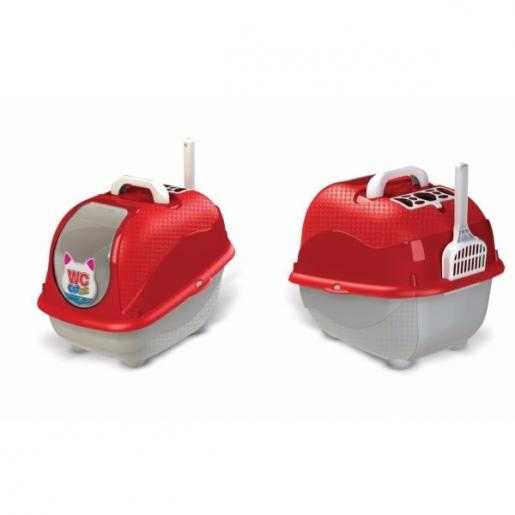 Sanitário Higiênico Para Gatos WC Cat Box Vermelha