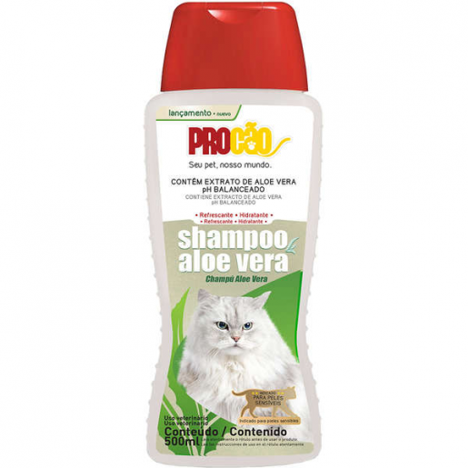 Shampoo Aloe Vera Gatos Procão 500ml