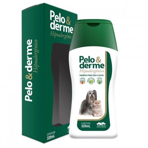 Shampoo Para Cães e Gatos Pelo e Derme Hipoalergênico 320ml
