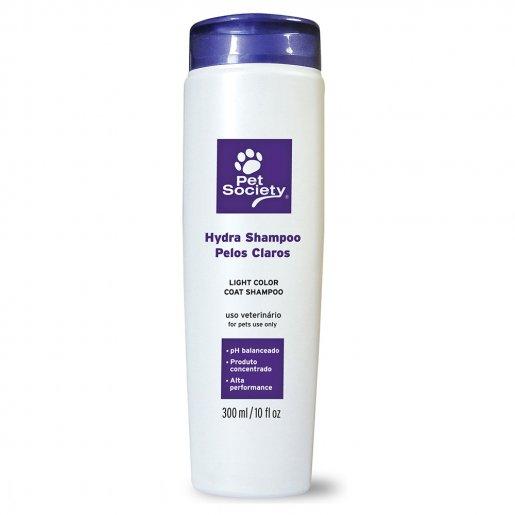 Shampoo Pet Society Hydra Para Pêlos Claros 300ml
