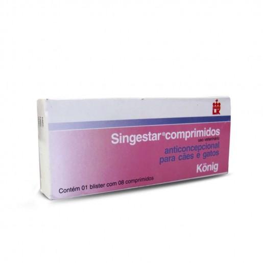 Singestar Comprimidos Anticoncepcional para Cães e Gatos 8 Comprimidos