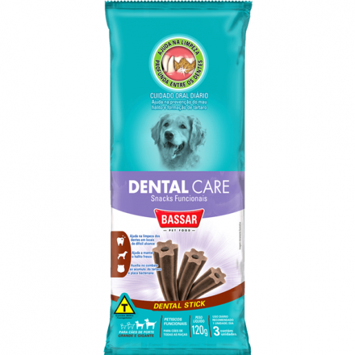Snack Dental Care Cachorros Raças Grandes Bassar Pet Food 120g