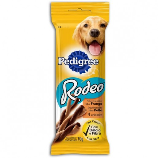 Snacks Pedigree Rodeo Sabor Frango 4 Unidades