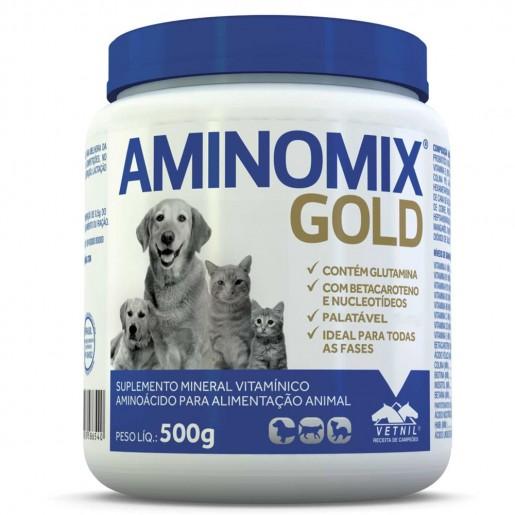 Suplemento Aminomix Gold Cães e Gatos 500g