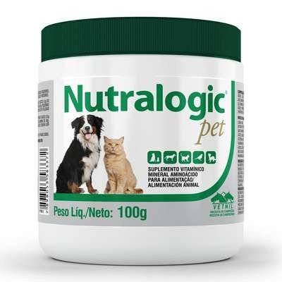 Suplemento Vitamínico Mineral em Pó Nutralogic Cães Gatos 100g